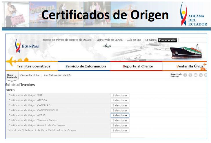 certificado ORIGEN