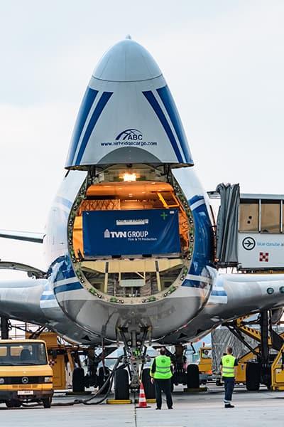 carga Aérea avión de transporte